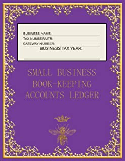 Small Business Book-Keeping Accounts Ledger: Large Book-keeping ledger for the small business and self-employed - Purple a...