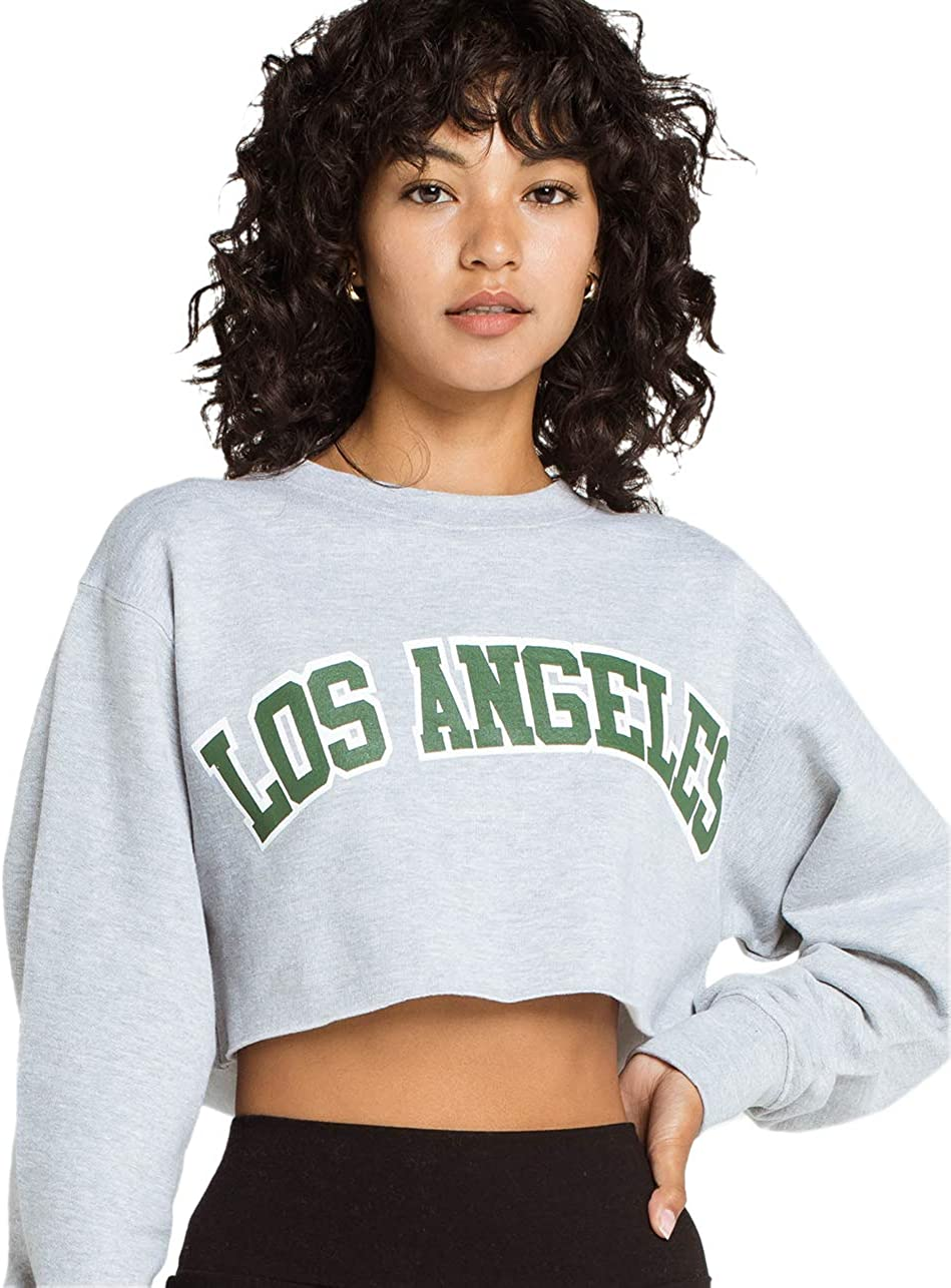 Full Tilt Los Angeles Crop Sweatshirt