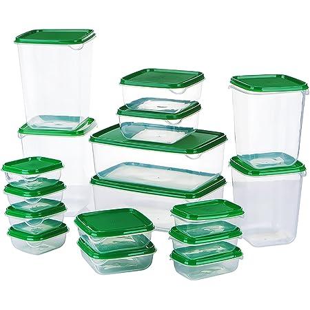 McNory Set di Contenitori per Alimenti, Lavastoviglie,Congelatore e Microonde Sicuro,Senza BPA Contenitori per Cereali,17 Pezzi