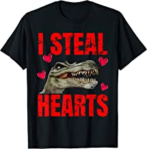 Boys I Steal Hearts Dinosaur Valentines Day T-Shirt
