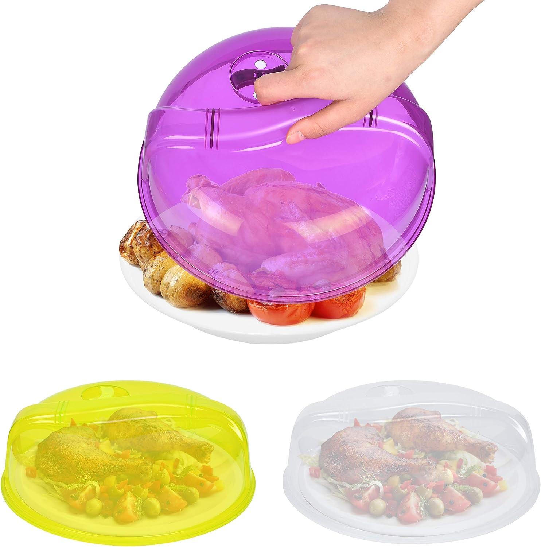 San Antonio Mall Supkiir 3Pcs Microwave Free shipping New Plate Cover Plastic Reusable Li BPA