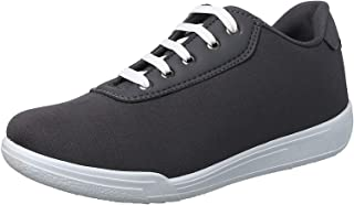 Salerno Textile Leather-accent Contrast-Lace Fashion Sneakers For Men - Grey