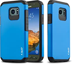 J&D Case Compatible for Galaxy S7 Active Case, Heavy Duty [Dual Layer] Hybrid Shock Proof Protective Rugged Bumper Case for Samsung Galaxy S7 Active Case - [NOT Compatible with Galaxy S7] - Blue