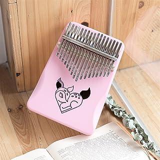 Digital Piano 17 Key Thumb Piano Cute Cartoon Pink Girl Gift Musical Instruments Mbira Child Beginners Portable Finger (Co...