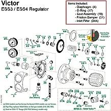 Victor Edge Series ESS3 Oxygen Regulator Rebuild/Repair Parts Kit