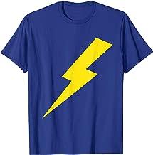 Cool Lightning Bolt Yellow Print Tee Shirt