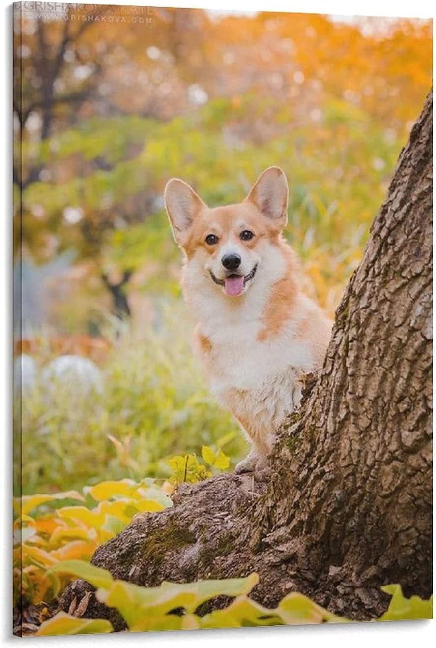 Cute Corgi Dog Poster3 Canvas 1 online shop year warranty Art Picture and Poster Pr Wall