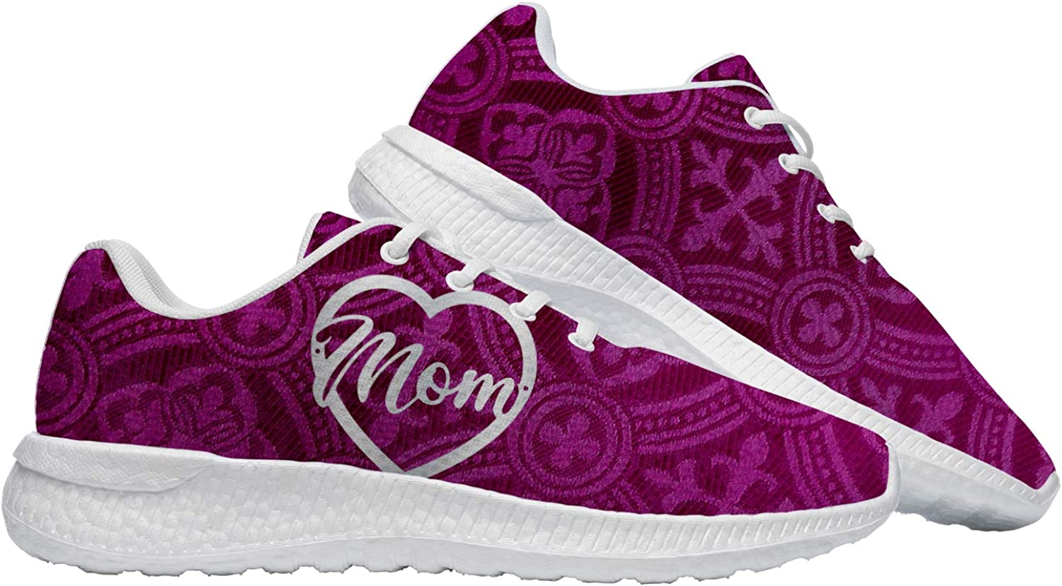 Mother's Day Shoes for Women 3D Print Love Mother Super Mom Runn