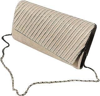 Milya Damen Glitzer Clutch Abendtasche, Strass Handtasche Hochzeit Party Unterarmtasche Umhängetasche Schultertasche mit S...