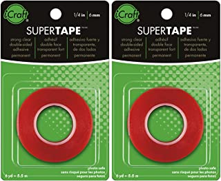 2-Pack - Thermoweb Super Tape Double-Sided 1/4-Inch-by-6-Yards