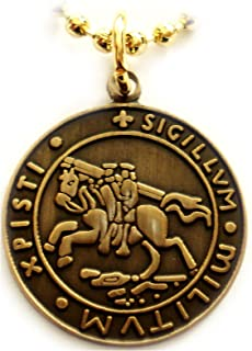 Knights Templar Seal Crusaders Solomons Temple Pendant Necklace w/ball chain