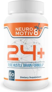 Neuro 24 + Brain Enhancement Formula - Brain Booster - Motiv8 Your Mind with This Pure Hustle Brain Formula Designed to Uplift Your Focus and Support Improved Brain Performance