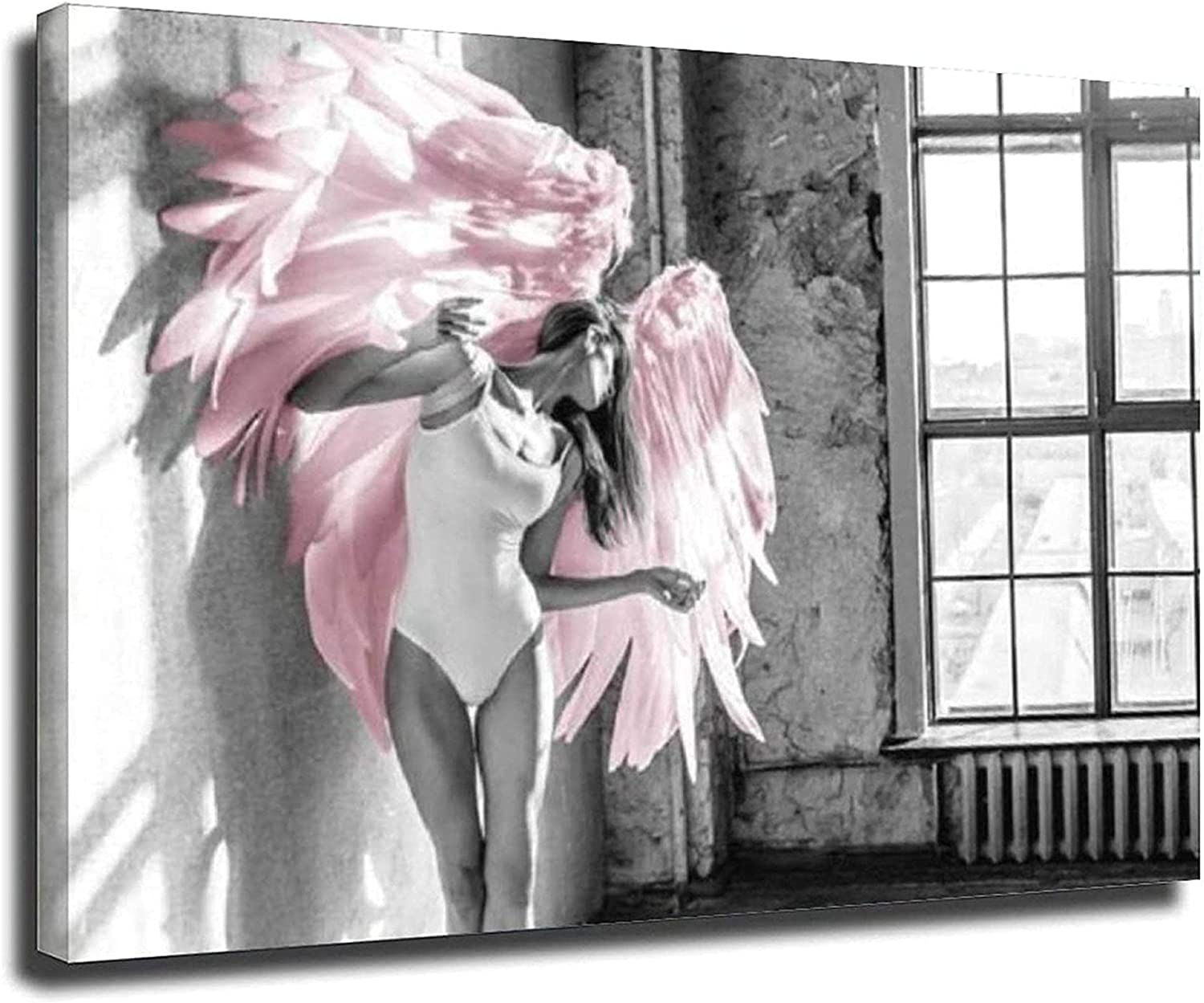 Poster Image 27.6x35.4in Max 81% OFF 70x90cm Online limited product No Angel Pink Feath Wing Frame