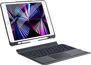 iPad第9世代キーボード付きケース ipad 10.2 キーボード 日本語配列 ipad pro 10.5 キーボード ipad air3 キーボード タッチパッド付き 脱着式 ipad第8世代 第7世代 キーボードケース apple pen...