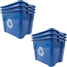 Rubbermaid Commercial FG571473BLUE Recycling Bin, pack of 6