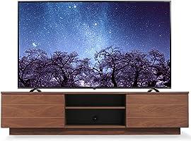 【60-65V型推奨】 アイリスオーヤマ テレビ台 テレビボード ローボード 幅180cm 奥行35.2cm 高さ41.5cm 50型 55型 ウォールナット 天然木 引き出し付き 扉付 完成品 BTS-SD180U-WN
