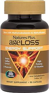 NaturesPlus AgeLoss Energy Support - 90 Vegetarian Capsules - High Potency Anti-Aging Energy Booster, Antioxidant, Anti-In...
