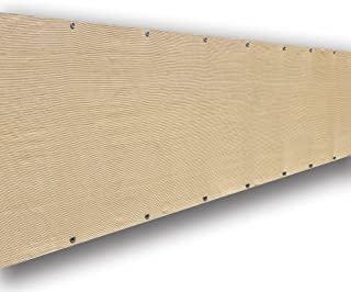 ALION HOME Privacy Screen Windscreen Mesh Shade Panel for Backyard Deck, Patio, Balcony, Fence, Porch, Pool -180 GSM - Custom (3' x 16', Beige)