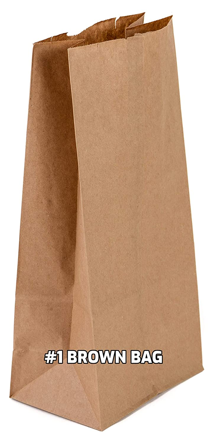 Over item handling EcoQuality 1500 Mini Brown Kraft Paper lb Courier shipping free shipping Bag Small 1 -