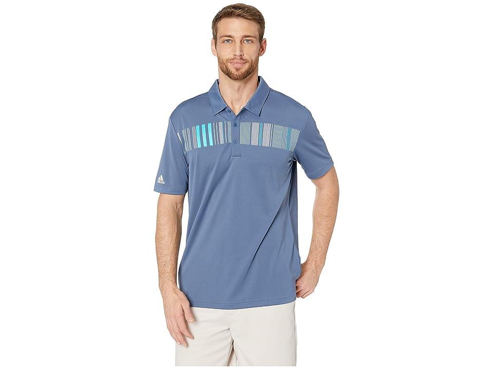 adidas Golf Chest Stripe Polo (Tech Ink) Men