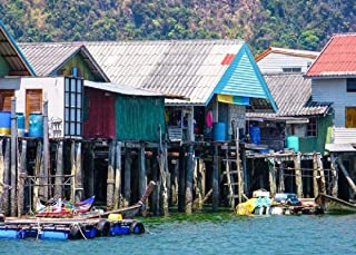 1000 Piece Puzzles For Adults Teen-Thai Sea Village Puzzle- Oil Painting Landscape Jigsaw Puzzle-HD Printing -Letter Parti...