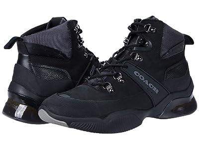 COACH CitySole Leather Mixed Material Hiker (Black) Men
