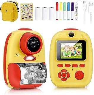 كاميرا فورية، كاميرا بريماكس بطباعة رقمية مع كاميرا للأطفال قابلة لإعادة الشحن 1080 بكسل، ورق مطبوع، ملصقات كرتون، أقلام م...