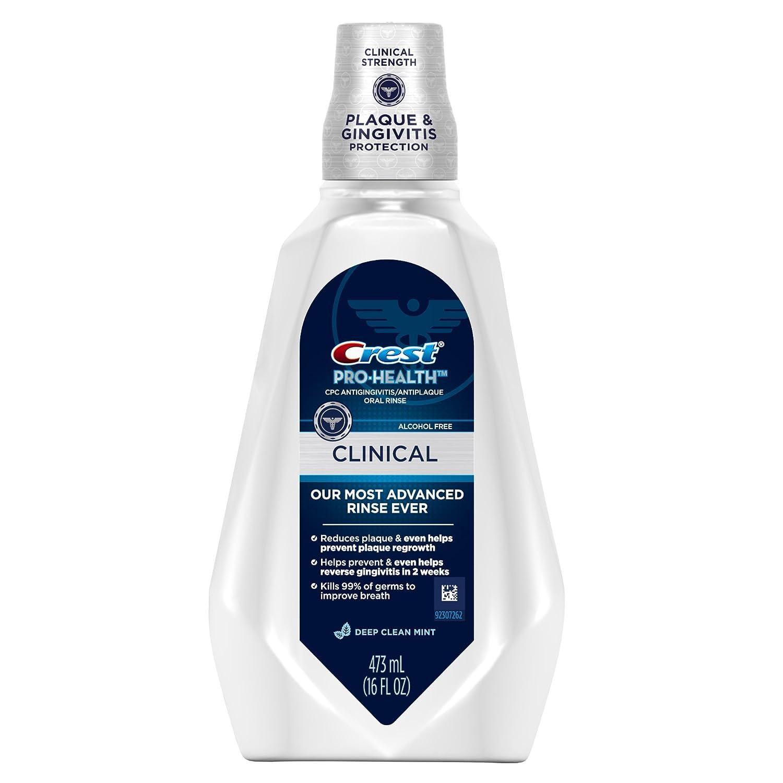 Crest Pro-Health Clinical Deep Clean Mint Mouthwash 473 Ml