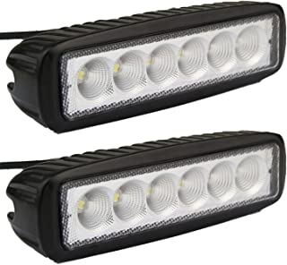 Led Light Bar, Senlips 2x 18W Flood Light Led Lights Fog Light Offroad Light Bar IP 67 Waterproof for Off-road Vehicle, ATV, SUV, UTV, 4WD, Jeep, Boat- Black