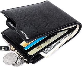 Men's PU Leather Flipout ID Wallet Bifold Hybrid RFID Blocking