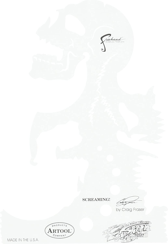 Artool Freehand Airbrush Templates, Skull Master Screaming