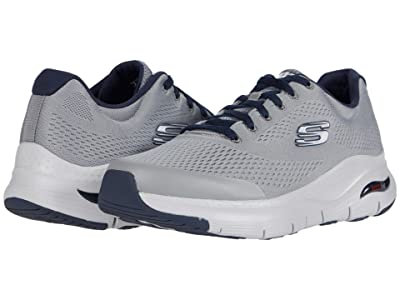 SKECHERS Arch Fit (Gray/Navy) Men