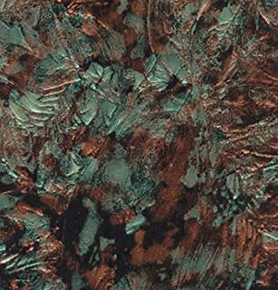 Van Gogh - Green/Copper Stained Glass Sheet - 6
