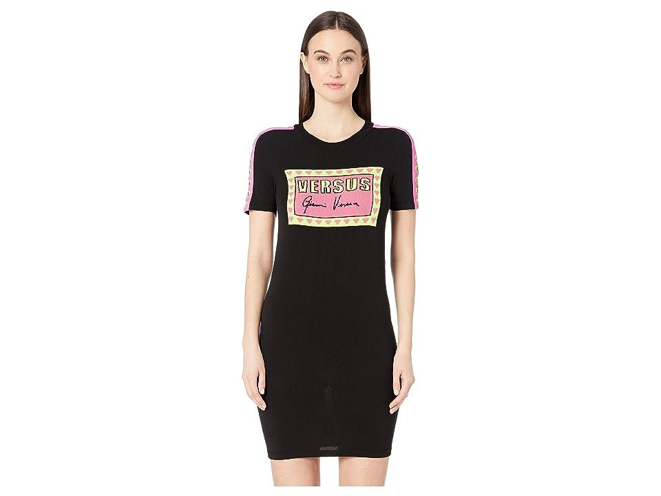 Versus Versace Knit Gianni Dress (Black) Women