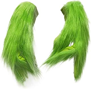 Grinch Green Mask, Santa Hat Christmas Costume Props