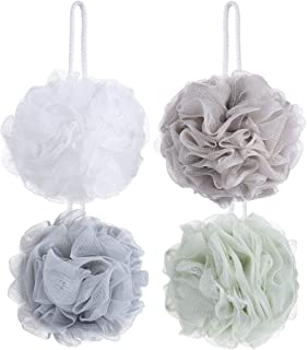8 Small Mesh Pouf Bath Sponge - Mesh Loofah Body Exfoliating Shower Ball Shower Sponge