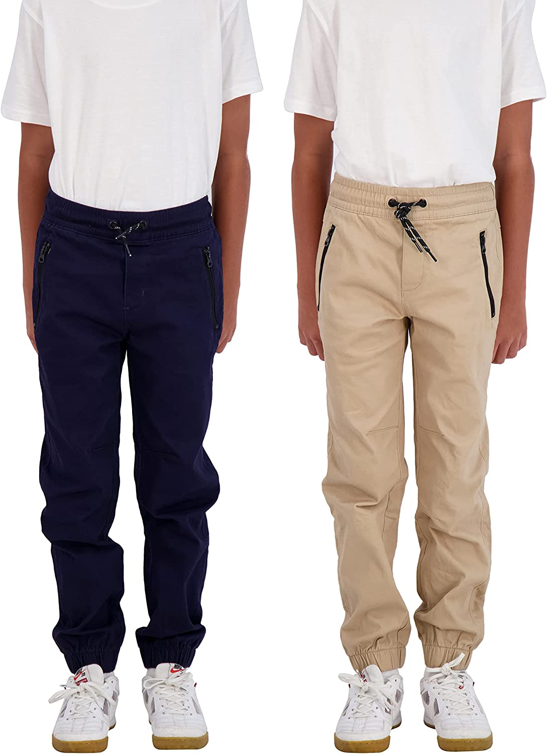 TONY HAWK Boys 2-Pack Twill Jogger with Pockets Pul Free shipping on posting reviews Pants Zipper Be super welcome