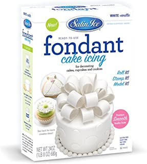 Satin Ice White Fondant, Vanilla, 24 Ounces