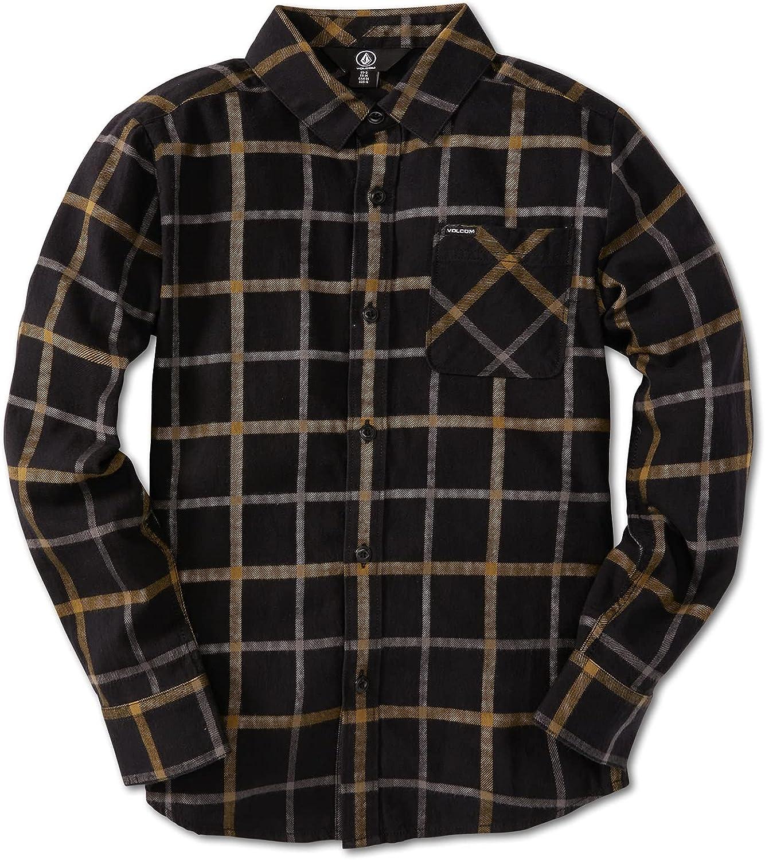Volcom Boys' Caden Plaid Long Sleeve Flannel Shirt (Big Boys & Little Boys Sizes)