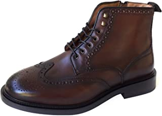 Men Brown leather boot 6010/022/709