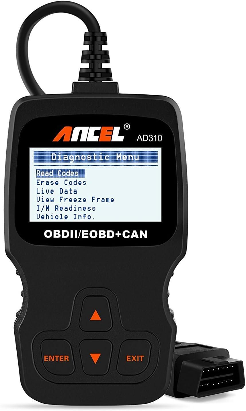 ANCEL AD310 Classic Enhanced Universal OBD II Scanner Car Engine Fault Code Reader CAN Diagnostic Scan Tool (Black)