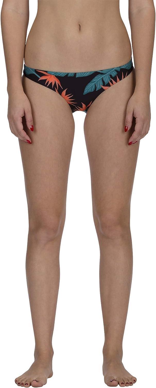 Hurley Women's Standard Quick Dry Compression Solid Bikini Bottom