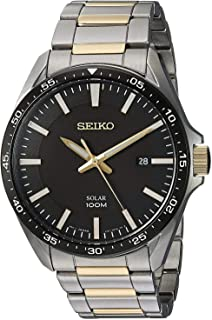 SEIKO Men's Quartz Watch, Analog Display and Stainless Steel Strap SNE485P1