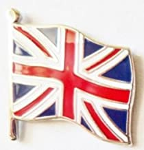 United Kingdom UK Union Jack Wavy Flag Enamel and Metal Pin Badge