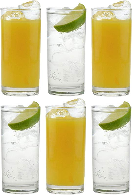 Traditional Tumbler Hiball Glasses Pack Of 6 Glasses 285ml 10oz