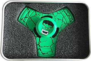 STAR WARS Fidget Spinners, Unique Antique Fidget Spinners - Upgraded High Speed Antique Fidget METAL Aluminum Alloy Spinner Toy in Premium Gift Box, Stress Reducer Relieves ADHD (TYPE-B, HULK-GREEN)