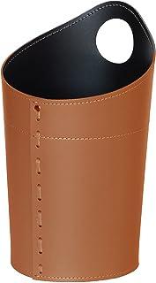Gavemo AMBROGIO, Corbeille à Papier en Cuir, Poubelle de Bureau, Boîte à ordures, Fabriqué par Limac Design®,