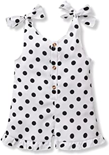 Toddler Baby Girl Clothes Kid Summer Outfits Strap...