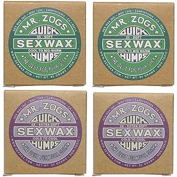 4個セットSEX WAX セックスワックス サーフワックス/サーフボードワックス サーフボード滑り止め COOL(春秋用)2個&COLD(冬用)2個