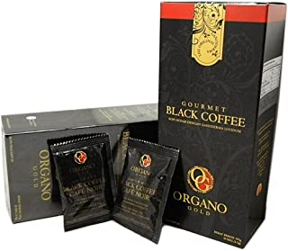 2 Boxes Organo Gold Gourmet Cafe Noir, Black Coffee 100% Certified Ganoderma Extract Sealed (1 Box of 30 Sachets)